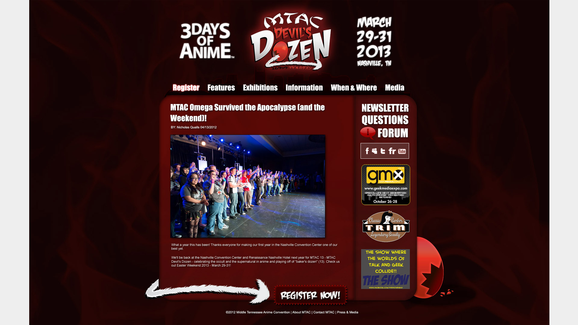 MTAC: Devil's Dozen Website Comp