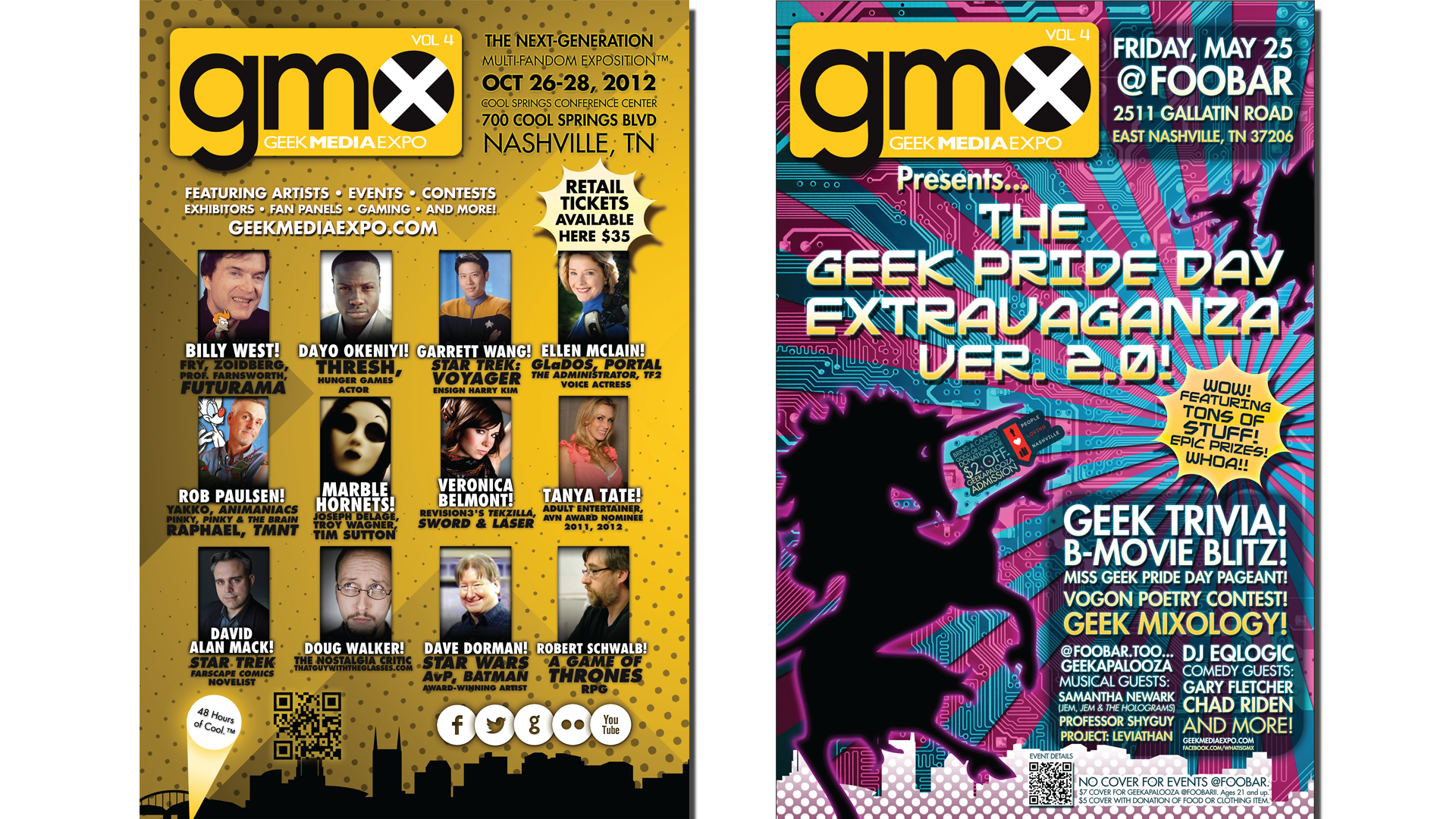 Geek Pride Day II and Geek Media Expo Volume 4 Posters