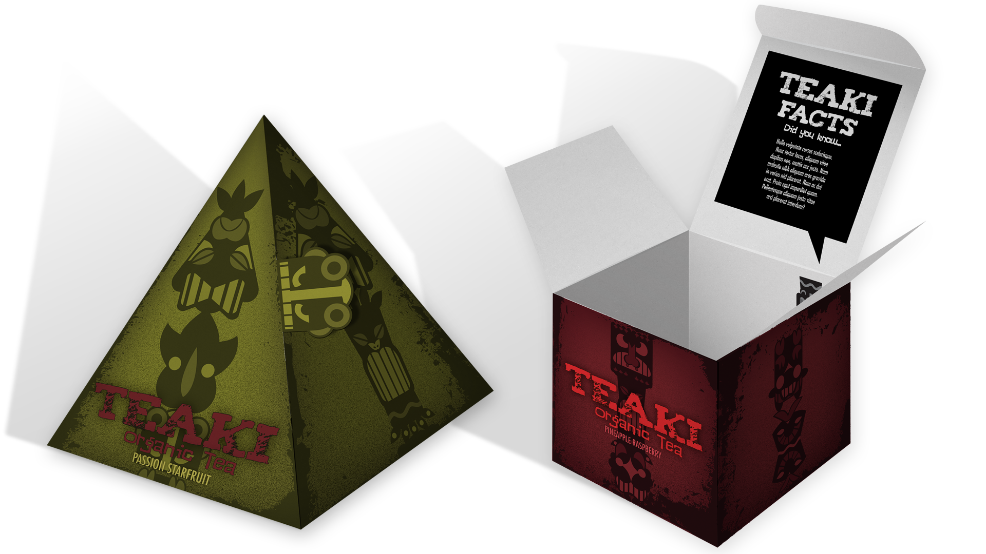 Teaki Pyramid Box Mock-up